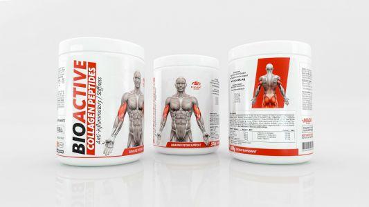 Bioactive Collagen Peptides label design 7