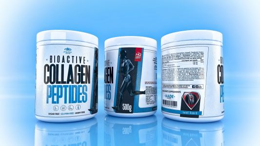 Bioactive Collagen Peptides label design 9